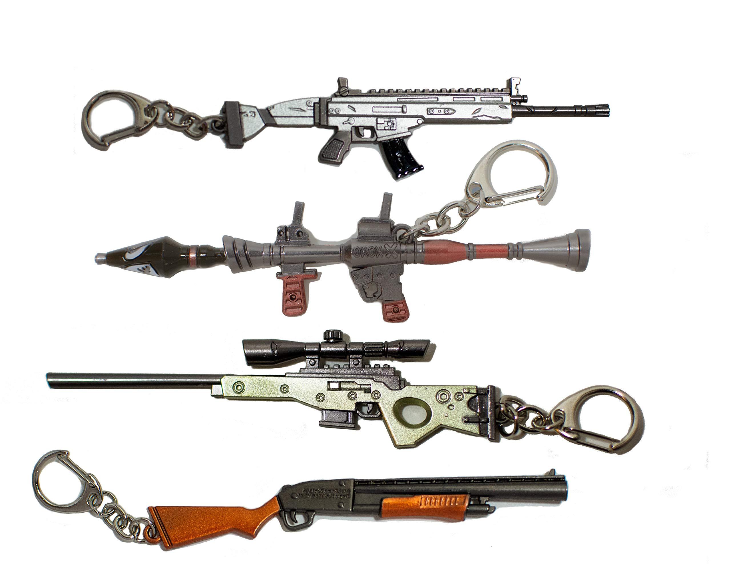Victory Royale Gamer 钥匙链枪狙击枪泵 SCAR 和火箭