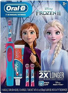 Oral-B 歐樂B 兒童迪士尼冰雪奇緣 2 電動牙刷 Crest 閃亮趣味牙膏