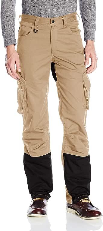 JOBMAN 工作服男式 5 口袋服务工装裤 Sand/Black 32W x 34L