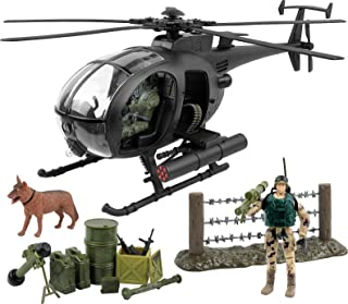 Click N' Play 军事攻击战斗直升机 20 件玩具套装,带配件。