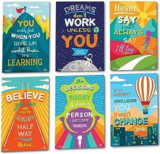 Sproutbrite 教室装饰海报 - 教育、激励和激励生长意的教室海报 - 6 个海报