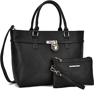 女式大时尚大手提包经典挂锁手提包挎包单肩包工作包钱包套装