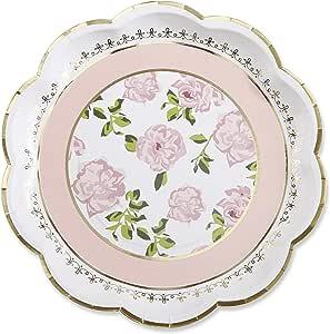 Kate Aspen 28310PK Tea Time Whimsy 纸盘,粉色 粉色