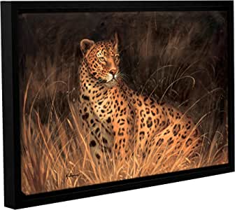 Kilian's Spotted African Cat, Gallery Wrapped Floater-Framed canvas 24x36