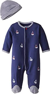 Little Me Little Me Baby-Boys' Sailboats Bodysuit and Hat