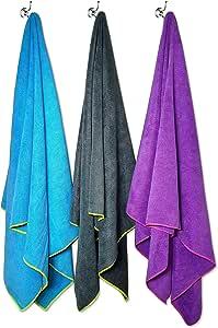 Flow 速干游泳毛巾 - 超细纤维运动毛巾 有大、中号