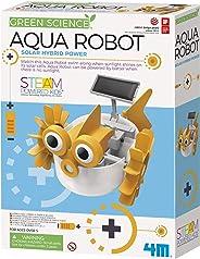 4M Aqua Fish 太阳能混合动力机器人儿童科学套装