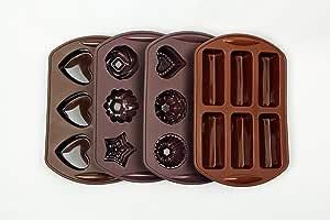 """帆船硅胶蛋糕装饰工具,蛋糕/糖果/软糖蛋糕模具 棕色 9.8"""" x 6.6"""" x 1.2"""""""