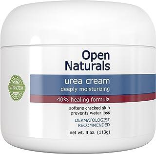 Open Naturals Urea 40% *霜 - 4 盎司 - 高级胼胝去除剂 - 滋润和补水厚、裂纹、粗糙、死皮和干燥皮肤 - 肘部、脚 - 让您满意或 * 退款*