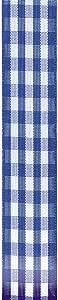 Offray Taffeta Gingham Check Craft Ribbon, 7/8-Inch x 9-Feet, Royal