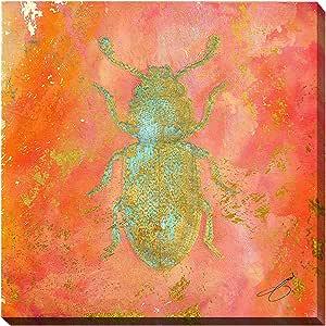 "Picture Perfect International""Beetle Bug"" by Working Girls Design Giclee 拉伸帆布墙艺术画 36"" x 36"" x 1.5"" 704-0951_3636"