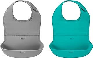 OXO Tot 两件套卷式围嘴 灰色/青绿色
