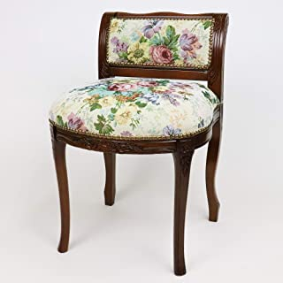 【意大利制经典家具】猫脚・带背的凳子/哥布兰织物 42×48×H63(SH45) cm R2-201GEN