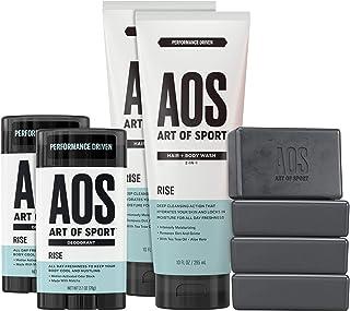 Art of Sport Athlete Collection,Compete Scent,8 件套皮肤和身体护理套装,*,沐浴露,沐浴皂和沐浴皂 上升
