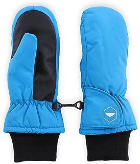 儿童冬季雪和滑雪手套 - 青少年手套专为滑雪和滑雪设计 - 防水、保暖尼龙外壳和合成皮革手掌 - 适合幼儿、少年男孩和女孩