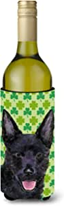 Caroline's Treasures SS4429-Parent Australian Kelpie St. Patrick's Day 三叶草肖肖像超饮保温器适用于纤薄罐 SS4429MUK,多色 多种颜色 750 ml SS4429LITERK