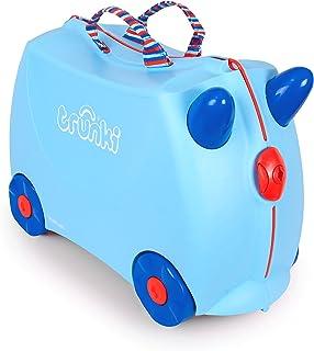英国 Trunki 骑坐式小型行李箱-浅蓝色(GEORGE)TR0248-GB01