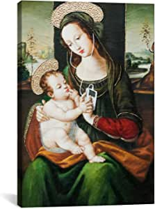 iCanvasART 2110 Silent Night Madonna with Child and Ipod Canvas Print by Banksy, 26 by 18-Inch, 1.5-Inch Deep