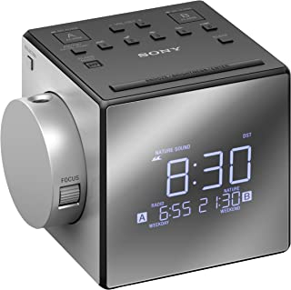 Sony 索尼ICFC1PJ.CEK带时间投影仪的时钟收音机-黑色/银色