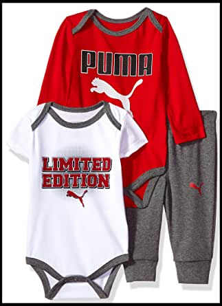 Puma 男婴三件套 杂碳灰 12M