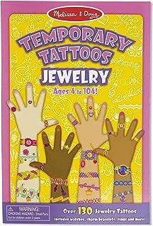 Melissa & Doug 美國瑪莉莎 一次性纹身:珠宝——130多种适合儿童的纹身(给男孩和女孩的完美礼物——适合3、4、5、6、7岁及以上的孩子)