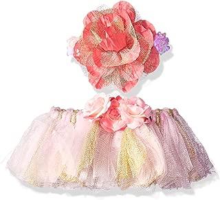 Toby & Company 女童芭蕾舞短裙和花朵图案头带 2 件套