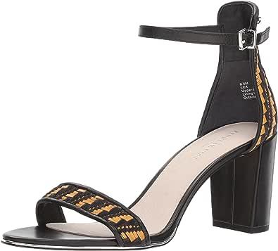 Kenneth Cole NEW YORK 女式 LEX 高跟高跟凉鞋 Black/Natural 6 B(M) US