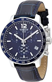 TISSOT 天梭 T095.417.16.047.00男士秒表手表,蓝色表盘模拟-数字,蓝色/水绿色