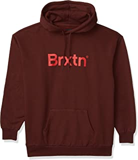 BRIXTON 男式大门休闲连帽羊毛衫
