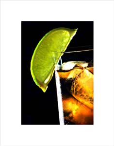 The Art Stop Rum and Coke Lime BAR *精冰黑色框架艺术印刷图片 B12X9155 无边框 12-Inches x 16-Inches B12X9155_UNFRAMED