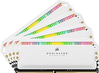 CORSAIR 海盗船 Dominator Platinum RGB 32GB(4x8GB)DDR4 3200(PC4-25600)C16 1.35V PC内存条 - 白色