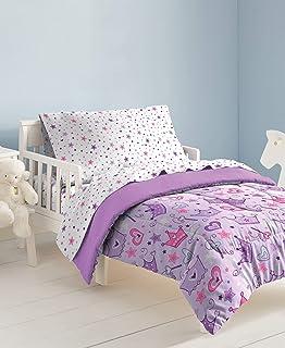 dream FACTORY 星冠 4 件套床上用品套装,多色,幼儿,多色