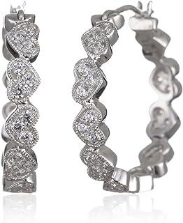 Myia Passiello R2762401_120 必备银色方晶锆石 2.238 克拉水手环耳环