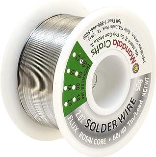 松香芯电焊线,电子,连接器,PCB 焊接;Mandala Crafts 出品 50g 0.5mm Lead Free Solder