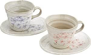 樱花 成对 咖啡杯 陶器 美浓烧