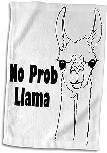 "3dRose EvaDane - 趣味语录 - No Pro Llama。 - 毛巾 多种颜色 15"" x 22"" twl_193562_1"