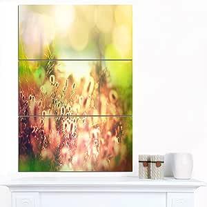 """设计艺术 美丽的苏丹梅洛金字塔 超大景观金属墙艺术 绿色 28x36"""" - 3 Panels MT12427-3PV"""