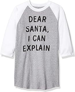 Soffe 儿童趣味新奇圣诞口号插肩-亲爱的圣诞老人,I Can Explain