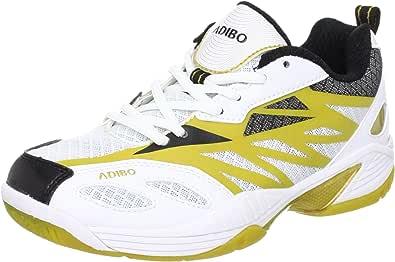 ADIBO 艾迪宝 中性 羽毛球鞋 S180 白色/金色 41