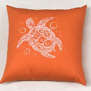 MAS 20x20 刺绣装饰抱枕 橙色 20x20