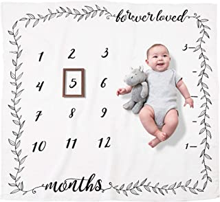 Pondering Pine 有機里程碑毯 - 新生嬰兒男孩或女孩禮物 - 每月攝影背景道具