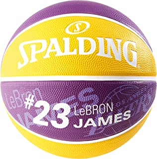Spalding NBA Player Lebron James SZ.7 (83-848Z) Basketballs, Youth Unisex, Purple/Yellow, 7