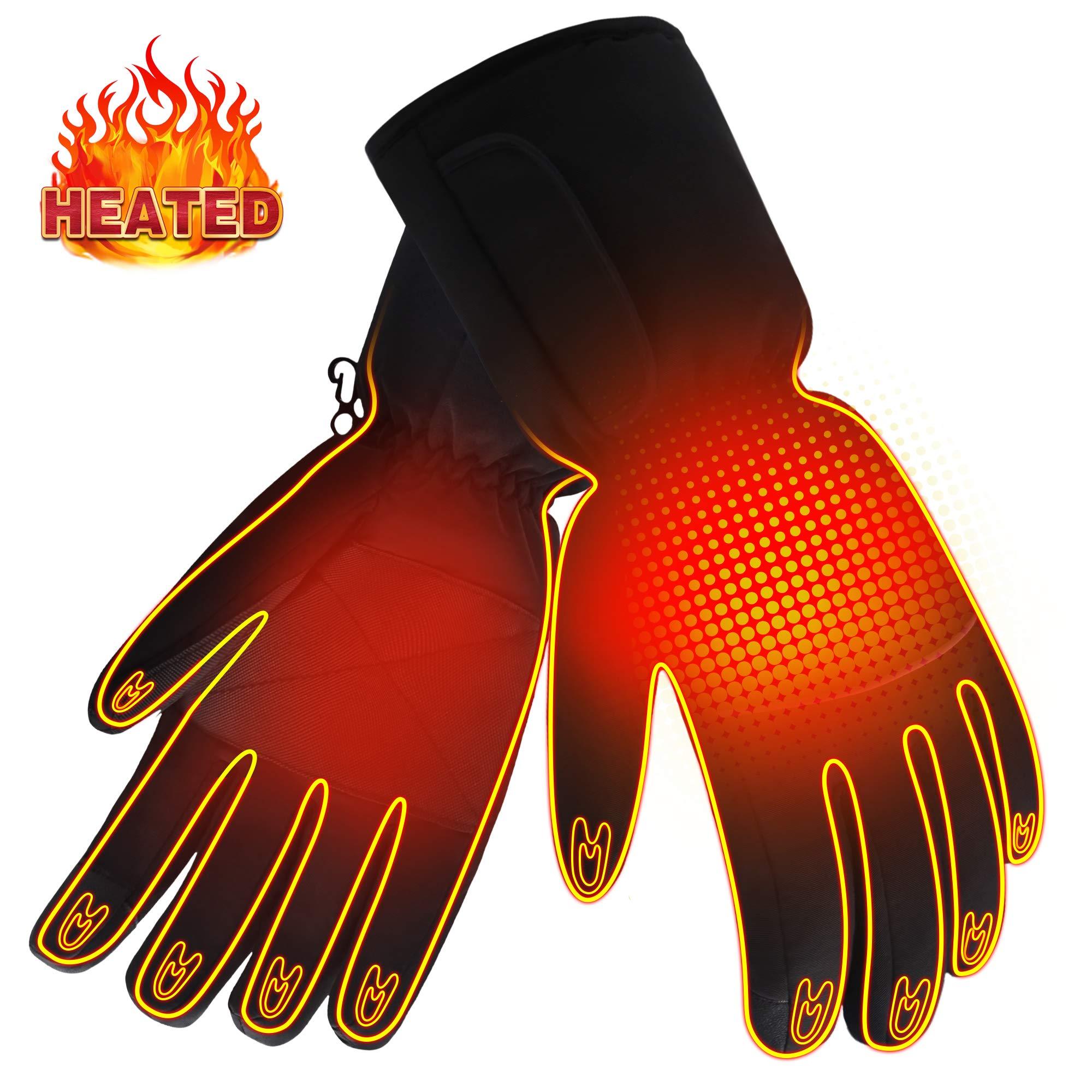 充電式電気暖房冬の手袋、手袋男性女性バッテリー暖房、温水暖かい手袋は冬のスポーツのためのスクリーンセーバーを触れます足ウォーマーの屋外クライミング