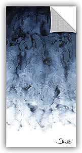 """ArtWall Shiela Gosselin's Black Watery Art Appeelz Removable Wall Art Graphic, 18 by 36"""""""