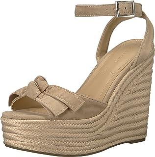 KENDALL + KYLIE 女式 Gwenn 帆布坡跟凉鞋