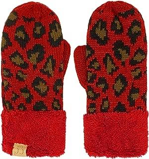 CC 儿童 4 至 7 岁厚绒毛羊毛内衬配套冬季手套手套