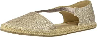 Kenneth Cole REACTION 女士 How Elastic Flat Espadrille 凉鞋