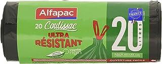 Alfapac – 20 升拉带 – 垃圾袋,非常结实 – 素食原装 – * – 45 x 45 厘米