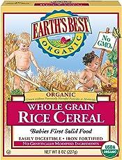 Earth's Best 全麦米粉 8盎司(227克) (6个月及以上) (12包装)(包装随机发货)