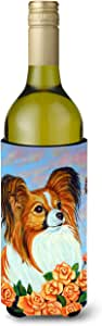 Caroline's Treasures 7246-Parent Papillon Ultra 饮料隔热器,适用于纤细罐 7246MUK,多色 多种颜色 750 ml 7246LITERK